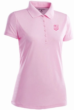 Los Angeles Kings Womens Pique Xtra Lite Polo Shirt (Color: Pink)
