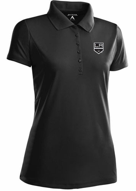 Los Angeles Kings Womens Pique Xtra Lite Polo Shirt (Color: Black)