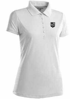 Los Angeles Kings Womens Pique Xtra Lite Polo Shirt (Color: White)