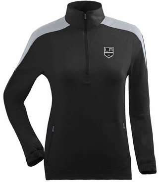 Los Angeles Kings Womens Succeed 1/4 Zip Performance Pullover (Team Color: Black)