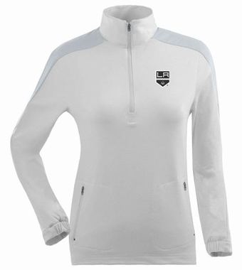 Los Angeles Kings Womens Succeed 1/4 Zip Performance Pullover (Color: White)