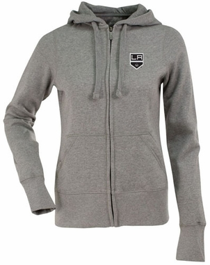 Los Angeles Kings Womens Zip Front Hoody Sweatshirt (Color: Gray)