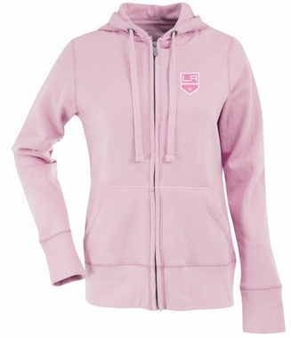 Los Angeles Kings Womens Zip Front Hoody Sweatshirt (Color: Pink)