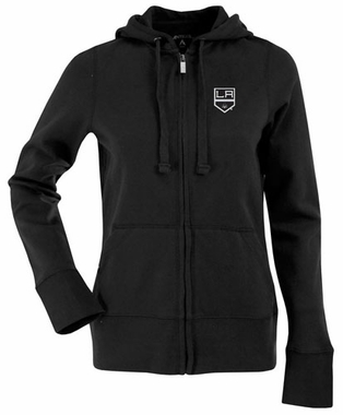 Los Angeles Kings Womens Zip Front Hoody Sweatshirt (Team Color: Black)