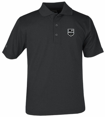 Los Angeles Kings YOUTH Boys Pique Polo Shirt (Team Color: Black)