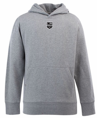 Los Angeles Kings YOUTH Boys Signature Hooded Sweatshirt (Color: Gray)