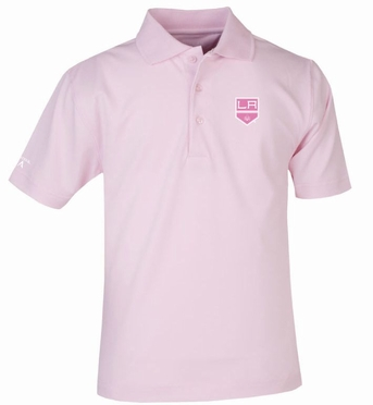 Los Angeles Kings YOUTH Unisex Pique Polo Shirt (Color: Pink)