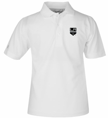 Los Angeles Kings YOUTH Unisex Pique Polo Shirt (Color: White)