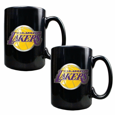 Los Angeles Lakers 2 Piece Coffee Mug Set