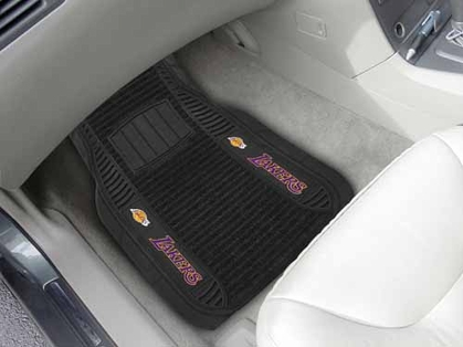 Los Angeles Lakers 2 Piece Heavy Duty DELUXE Vinyl Car Mats