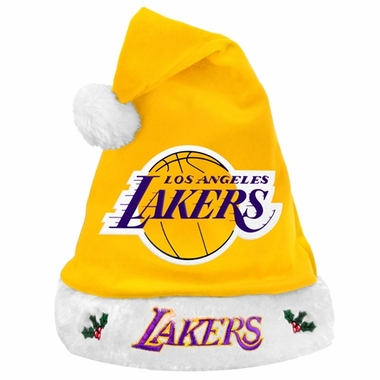 Los Angeles Lakers 2012 Team Logo Plush Santa Hat