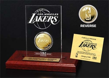 Los Angeles Lakers Los Angeles Lakers 24KT Gold Coin Etched Acrylic