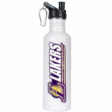 Los Angeles Lakers 26oz Stainless Steel Water Bottle (White)