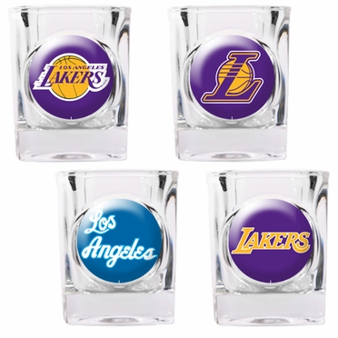 Los Angeles Lakers 4 Piece Assorted Shot Glass Set