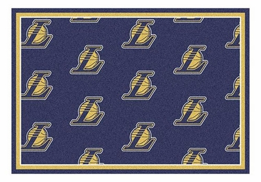 "Los Angeles Lakers 5'4"" x 7'8"" Premium Pattern Rug"