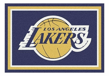 "Los Angeles Lakers 5'4"" x 7'8"" Premium Spirit Rug"