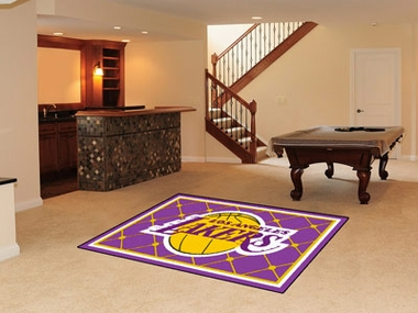 Los Angeles Lakers 5 Foot x 8 Foot Rug