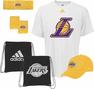 Los Angeles Lakers 5-Piece Shirt Hat Combo Pack