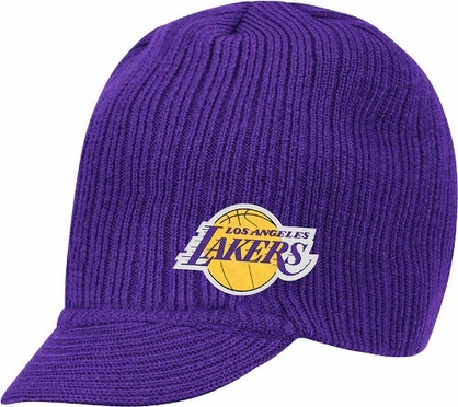 Los Angeles Lakers Adidas NBA Purple Visor Knit Hat