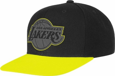 Los Angeles Lakers Adidas Neon Brim Snap Back Hat (Yellow)