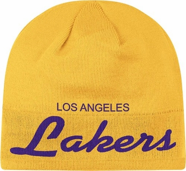 Los Angeles Lakers Anniversary Draft Cuffless Knit Hat