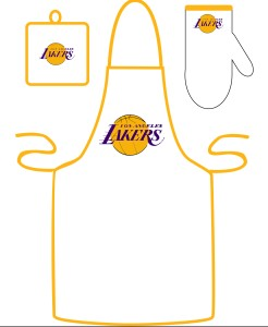 Los Angeles Lakers Apron and Mitt Set