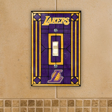 Los Angeles Lakers Art Glass Lightswitch Cover