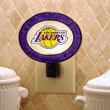 Los Angeles Lakers Art Glass Night Light