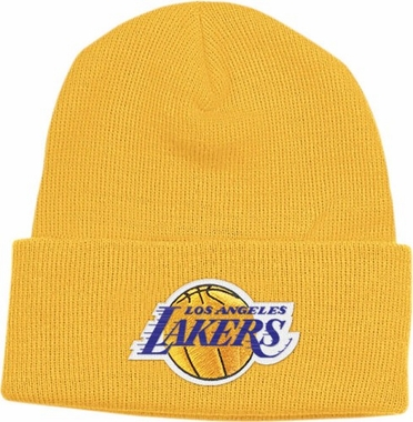 Los Angeles Lakers Basic Logo Gold Cuffed Knit Hat