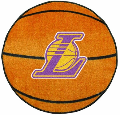 Los Angeles Lakers Basketball Shaped Rug
