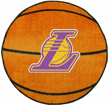 Los Angeles Lakers 27 Inch Basketball Shaped Rug