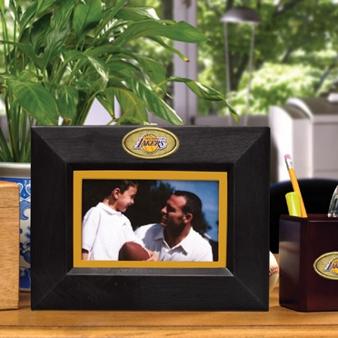 Los Angeles Lakers BLACK Landscape Picture Frame