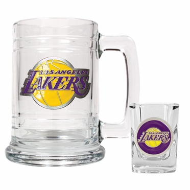 Los Angeles Lakers Boilermaker Set