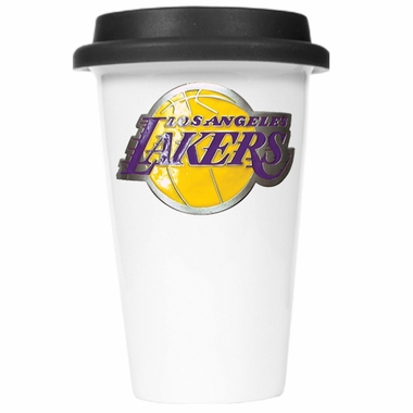 Los Angeles Lakers Ceramic Travel Cup (Black Lid)