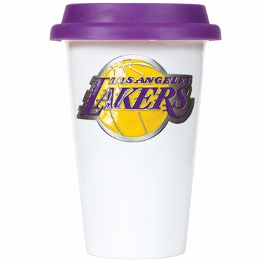 Los Angeles Lakers Ceramic Travel Cup (Team Color Lid)