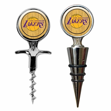 Los Angeles Lakers Corkscrew and Stopper Gift Set