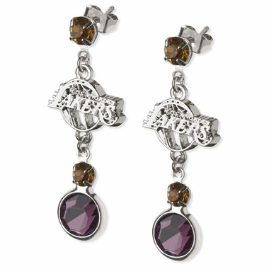 Los Angeles Lakers Crystal Logo Dangle Earrings