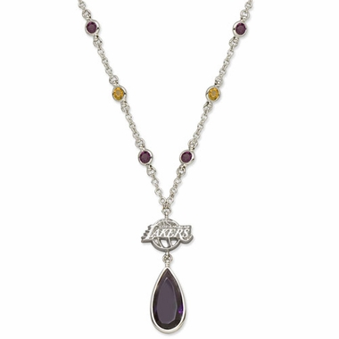 Los Angeles Lakers Crystal Logo Necklace