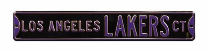 Los Angeles Lakers Ct Black Street Sign