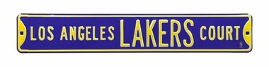 Los Angeles Lakers Ct - Purple Street Sign