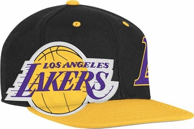 Los Angeles Lakers Double Graphic Wool Blend Snap Back Hat