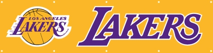 Los Angeles Lakers Eight Foot Banner