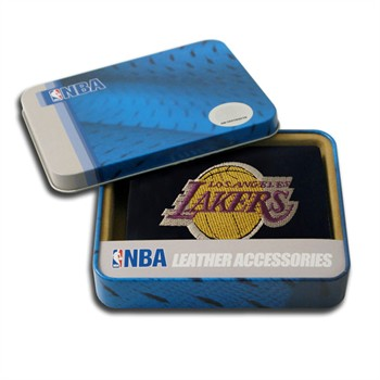 Los Angeles Lakers Embroidered Leather Tri-Fold Wallet