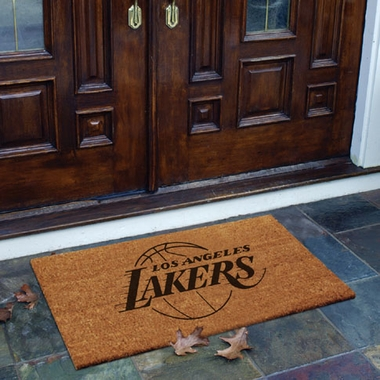 Los Angeles Lakers Flocked Coir Doormat