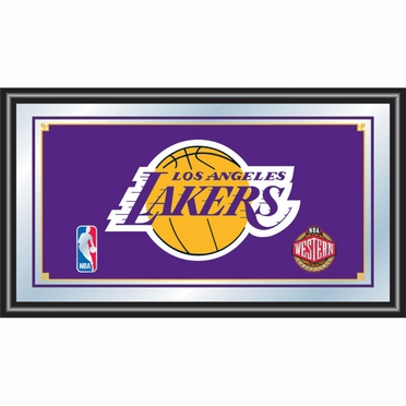 Los Angeles Lakers Framed Logo Bar Mirror