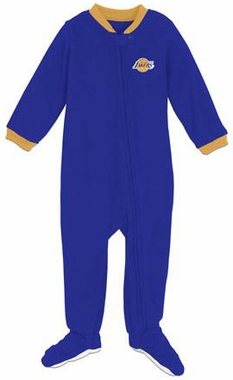 Los Angeles Lakers Infant Footed Sleeper Pajamas