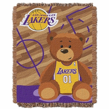 Los Angeles Lakers Jacquard BABY Throw Blanket