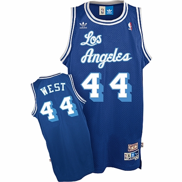 Los Angeles Lakers Jerry West Adidas Team Color Throwback Replica Premiere Jersey
