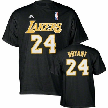 Los Angeles Lakers Kobe Bryant YOUTH Player Name and Number T-Shirt
