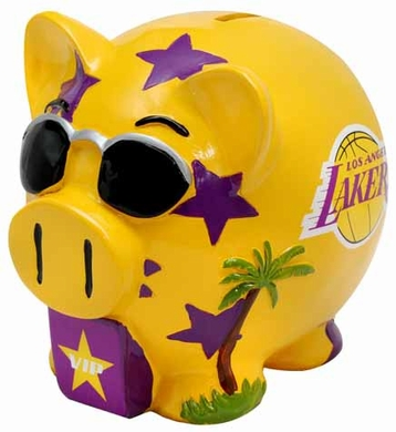 Los Angeles Lakers Large Thematic Piggy Bank